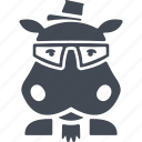 africa, animal, animals hipsters, hippo, hippopotamus, wild, wildlife icon