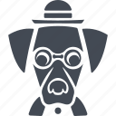 animals hipsters, dog, animal, hipsters, pet icon