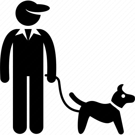 caretaker, dog, job, profession, train, trainer, training icon