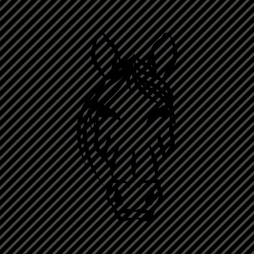 animal mascot, domestic animal, herbivorous animal, hoofed animal, horse head, horse mascot icon