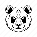 animal mascot, carnivore animal, panda head, panda mascot, wild animal icon