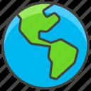 1f30e, americas, globe, showing icon