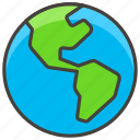 americas, globe, 1f30e, showing
