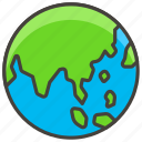 asia, 1f30f, showing, a, australia, globe