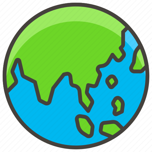 1f30f, a, asia, australia, globe, showing icon