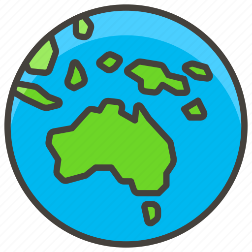 Asia, australia, b, globe, showing icon - Download on Iconfinder