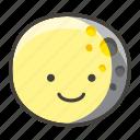 gibbous, moon, waning