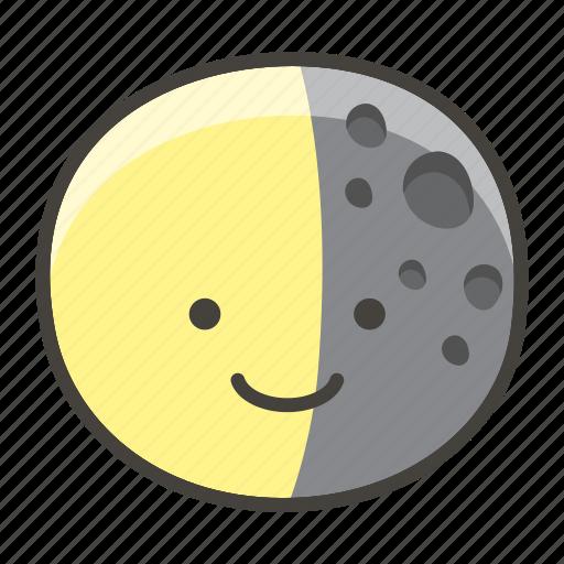 1f317, last, moon, quarter icon
