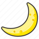 1f319, crescent, moon icon