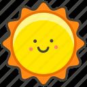 face, sun, with icon