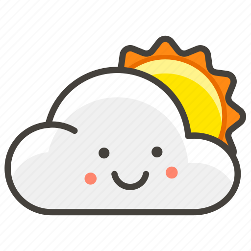 Behind, cloud, large, sun icon - Download on Iconfinder