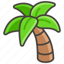 1f334, palm, tree icon