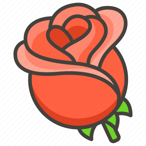 1f339, b, rose icon