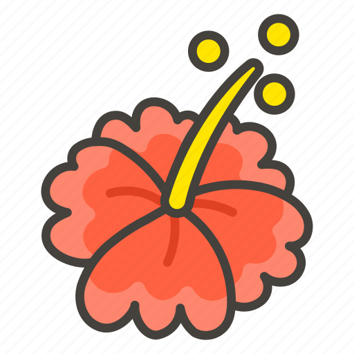 1f33a, hibiscus icon