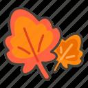 1f341, leaf, maple icon