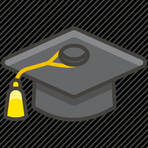 1f393, cap, graduation icon