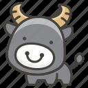 1f403, buffalo, water