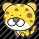 1f406, leopard icon
