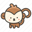 1f412, monkey icon