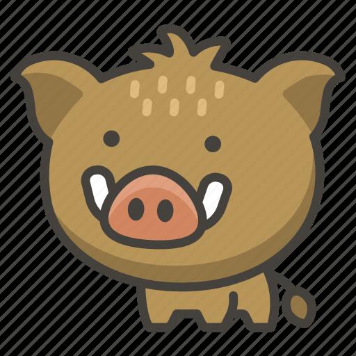 1f417, boar icon