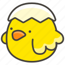 b, hatching, chick, 1f423 icon