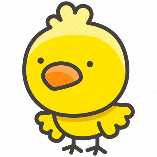 Baby, chick, facing, front icon - Download on Iconfinder