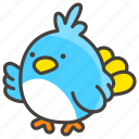 1f426, bird icon