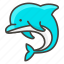 1f42c, dolphin icon