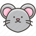 1f42d, face, mouse icon