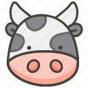 1f42e, cow, face icon