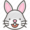 1f430, face, rabbit