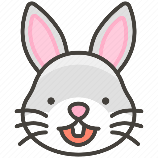 1f430, face, rabbit icon