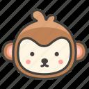 1f435, face, monkey