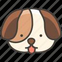 1f436, dog, face
