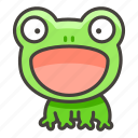 1f438, frog icon