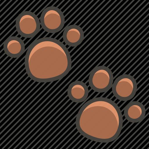 1f43e, paw, prints icon