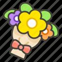 1f490, bouquet icon