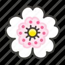 1f4ae, flower, white