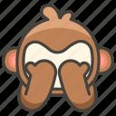1f648, evil, monkey, no, see icon