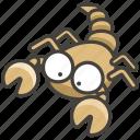 1f982, scorpion icon