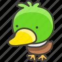 1f986, duck icon
