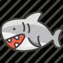 1f988, shark icon