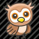 1f989, owl icon
