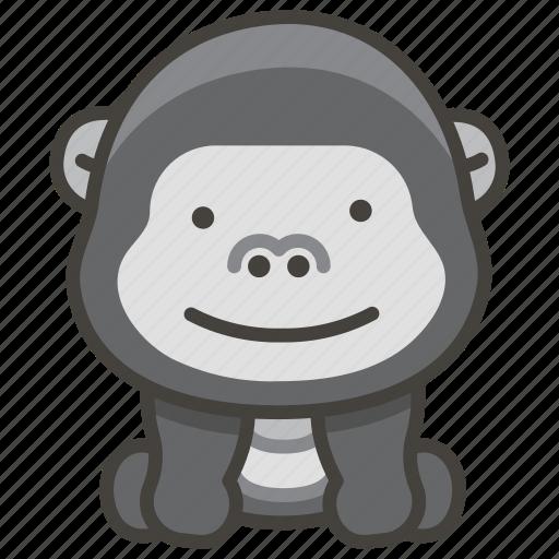 1f98d, gorilla icon