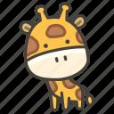 1f992, giraffe icon