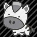 1f993, zebra