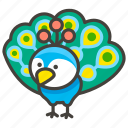 1f99a, peacock icon