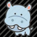 1f99b, hippopotamus icon