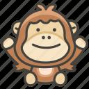 1f9a7, orangutan icon