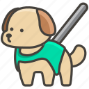 1f9ae, dog, guide icon